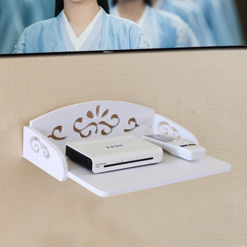 免打孔电视机顶盒置物架客厅壁挂wifi路由器收纳盒支架整理架搁板