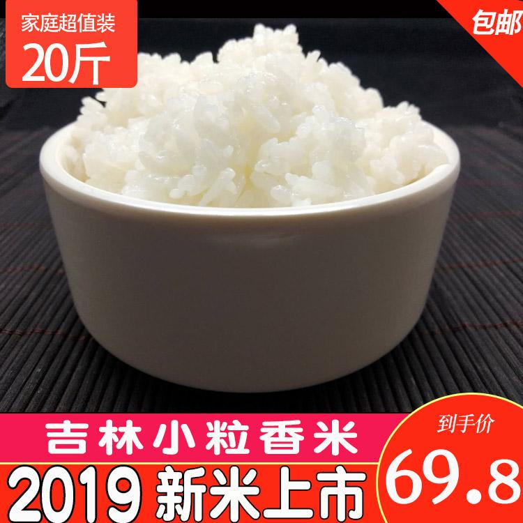 2019 new rice northeast rice Jilin round rice sushi rice rice 10kg 20 jin