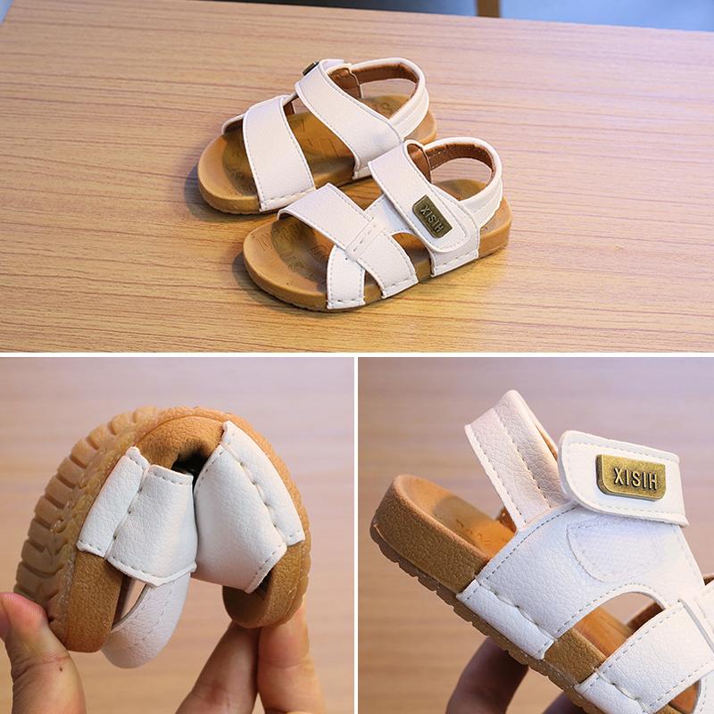 Ребенок сандалии мужчина 1-3 лет скольжение мягкое дно небольшой ребенок сандалии мужской и женщины ребенок лето корейский носок песчаный пляж обувной волна