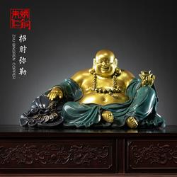 朱炳仁铜 招财弥勒佛铜雕摆件办公室工艺品家居饰品礼品艺术品