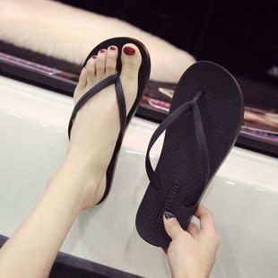 情侣人字拖女夏时尚外穿海边拖鞋男士夹脚防滑平底平跟沙滩凉拖鞋图片