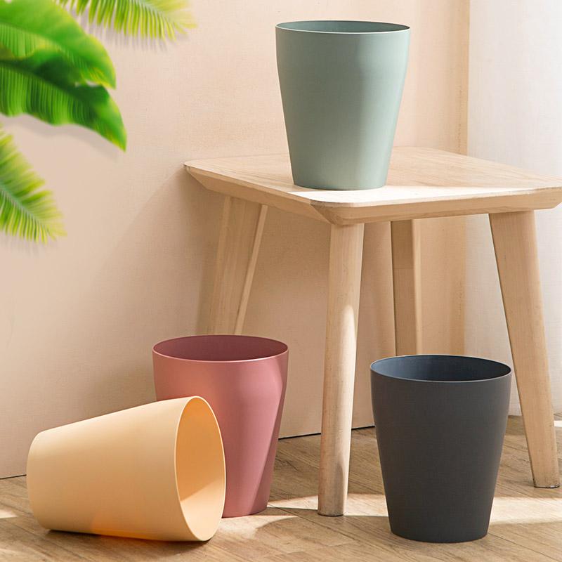 北欧风圆形垃圾桶 家用客厅创意大号篓 可爱少女卧室现代简约纸篓