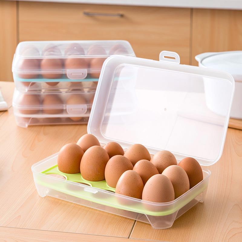 冰箱鸡蛋盒保鲜盒家用鸡蛋托鸡蛋格厨房透明塑料盒子放鸡蛋收纳盒