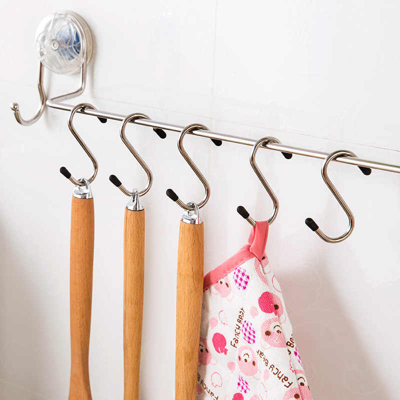 不锈钢S型挂钩家用厨房浴室s形s钩 创意多功能卫生间钩子s挂钩s勾