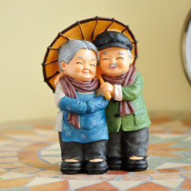 Creative old person scene decoration home decoration TV cabinet crafts small furnishings wedding gift Wedding Room layout