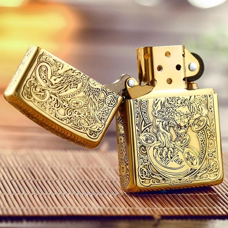 芝宝zippo招财貔貅 男士纯铜奢侈煤油防风打火机个性潮男时尚礼物