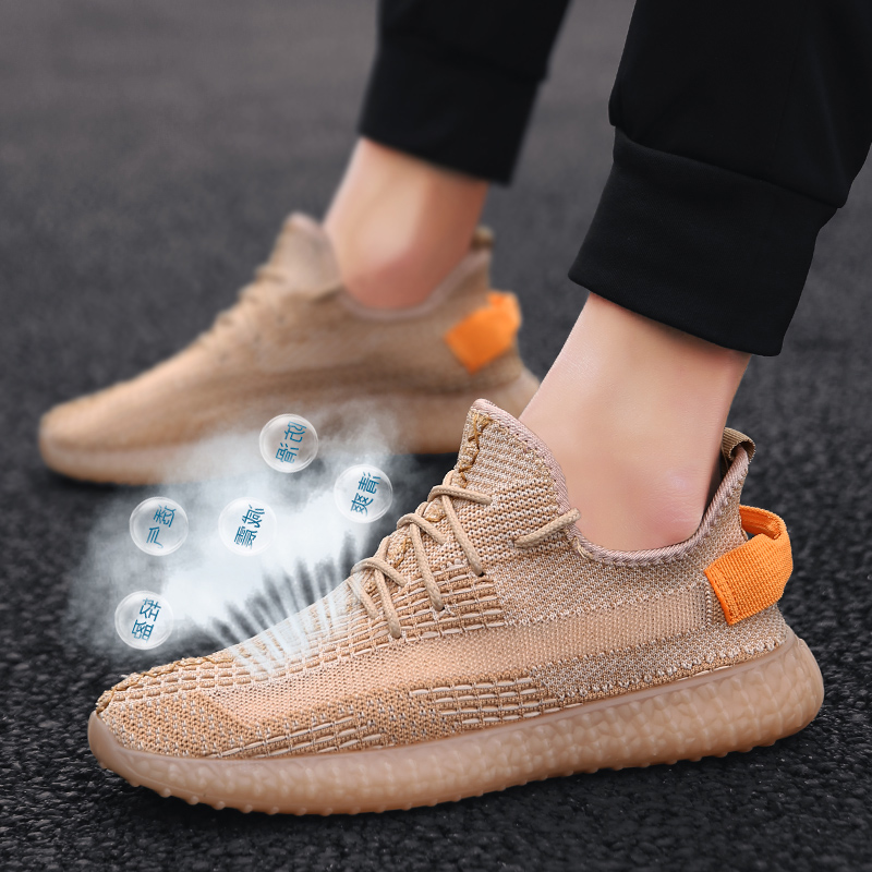 2020 new summer mens shoes breathable thin mesh shoes canvas shoes mens trend low top casual coconut shoes