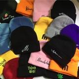 百搭毛线帽男女冬季冷帽街头纯色韩版冷帽冬天ins帽子女冬针织帽