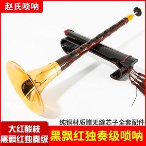 赵氏唢呐乐器全套专业演奏百年老红木大红酸枝黑飘红纯铜高档锁呐