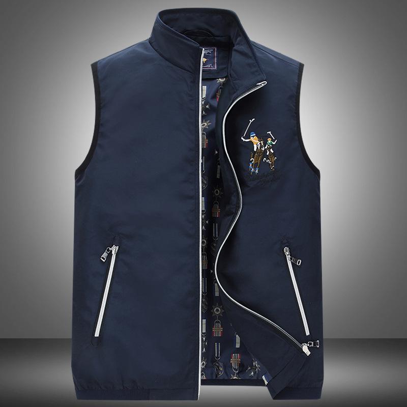 男士背心马夹外套薄款春秋冬季马球休闲时尚品牌男式马甲男POLO款