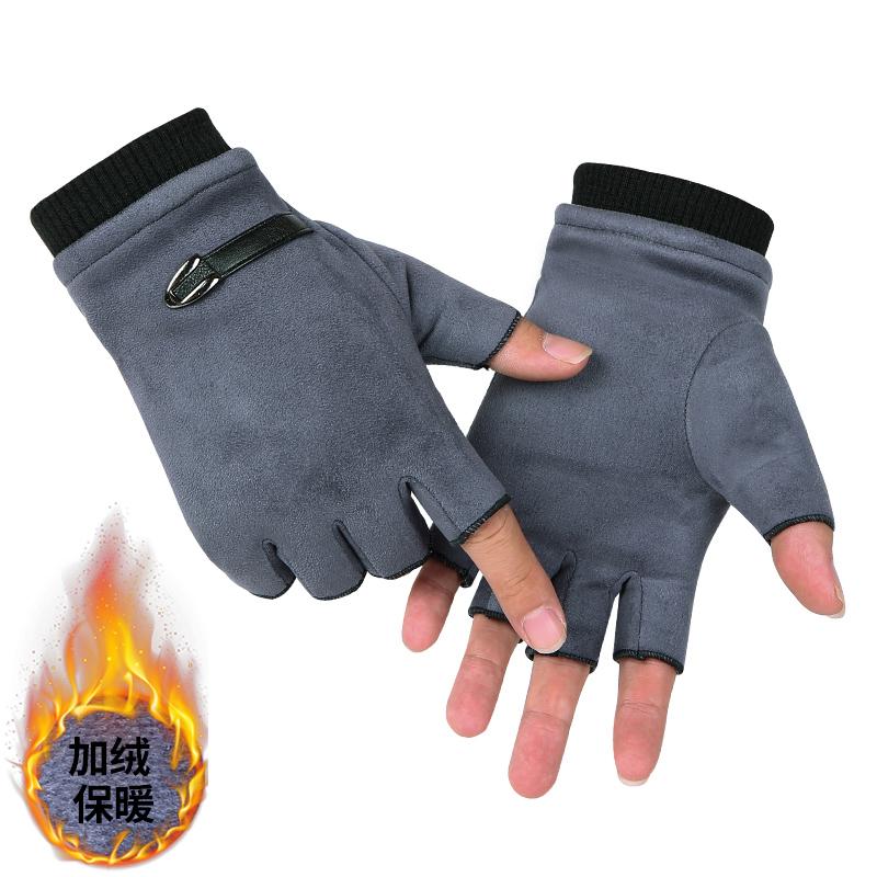 Мужские перчатки без пальцев Артикул 578352313414