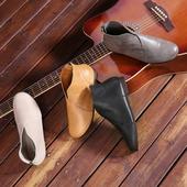 秋冬文艺软底护士鞋复古高帮真皮奶奶鞋圆头平底短靴休闲单鞋女鞋