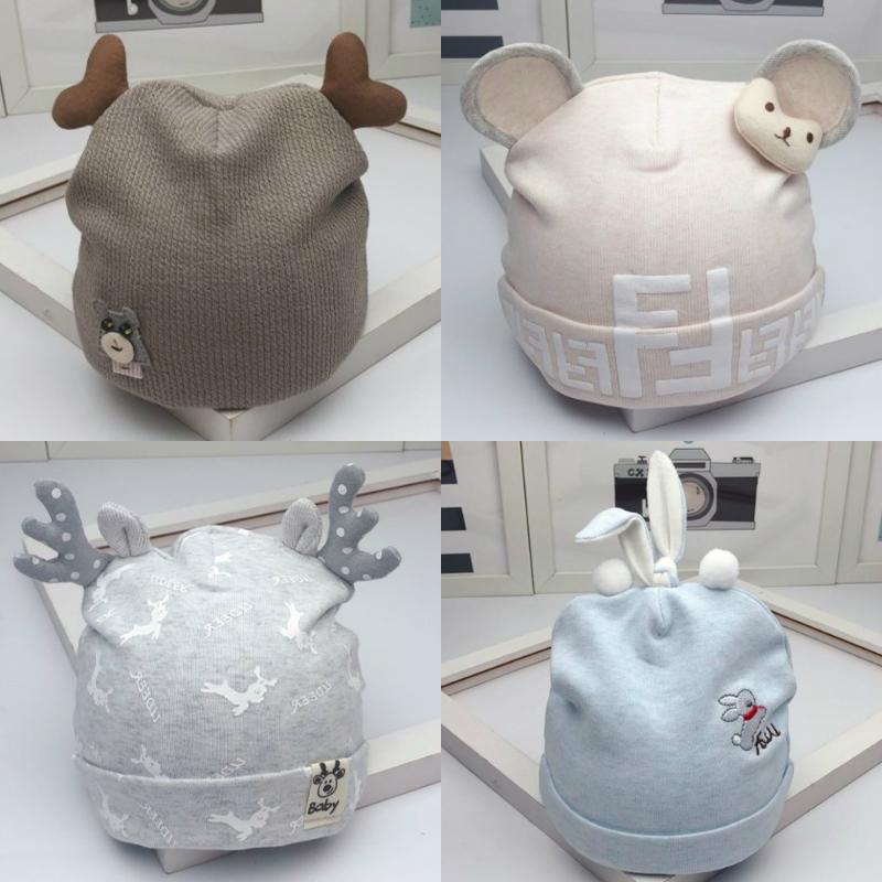 新生儿婴儿帽子0-3-6个月春秋男女宝宝纯棉卤门帽胎帽冬季初生潮