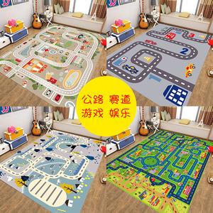 卡通隔凉地毯幼儿园早教儿童房交通停车场赛道过家家防滑游戏地垫