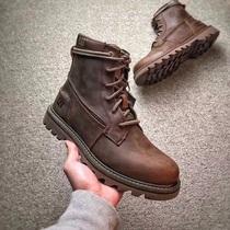 P720582男鞋卡特户外休闲鞋英伦高帮工装鞋女鞋复古马丁靴短靴CAT