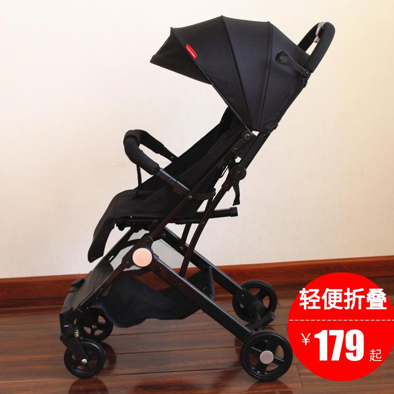 婴儿推车超轻便折叠简易小可坐躺儿童宝宝便携遛娃手推车溜娃神器