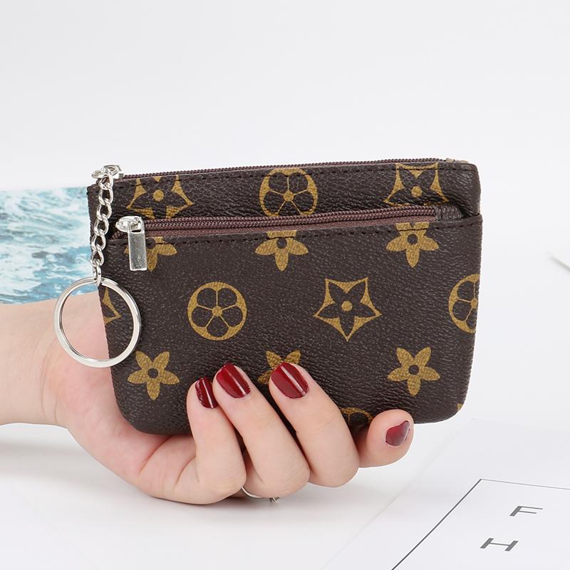 新款拉链零钱包女时尚手拿包女迷你超薄短款小钱包钥匙卡包硬币袋
