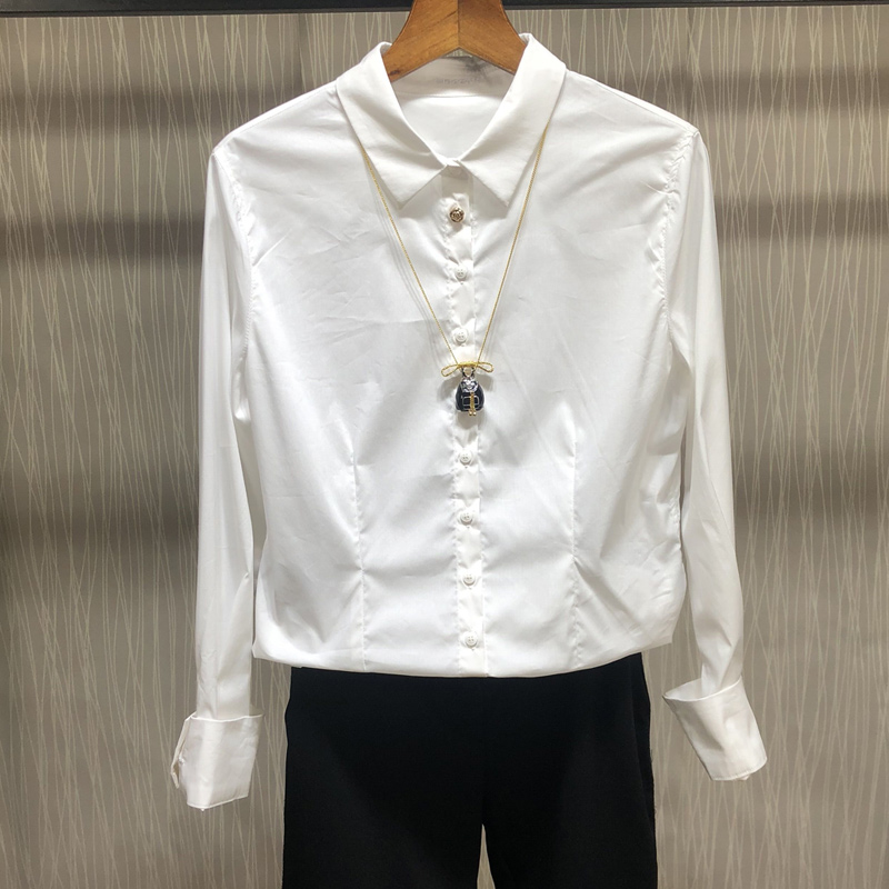 新颖哥弟特2018秋装新款女装上衣正品国内代购长袖衬衣职业衬衫女