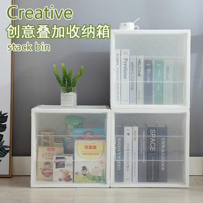 Plastic single combination cabinet storage lattice locker plastic storage box free combination quilt clothing finishing cabinet