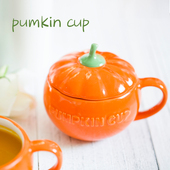 Ceramic Pumpkin Mug & Cover