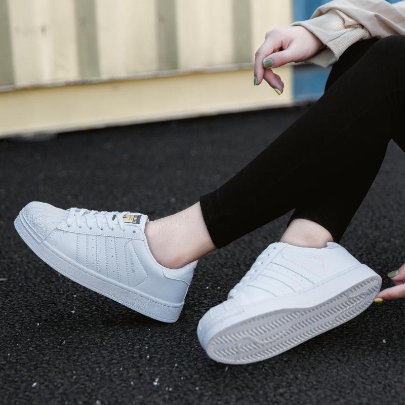 快手红人同款板鞋新款单鞋贝壳头小白鞋女鞋子韩版潮鞋百搭贝壳鞋图片