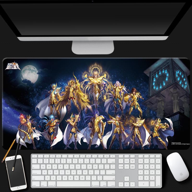 十二黄金圣斗士星矢鼠标垫青铜五小强二次元周边锁边课桌垫键盘垫