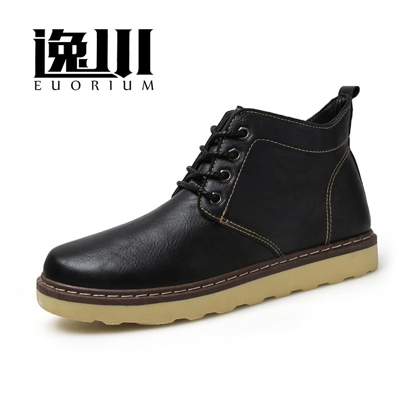 秋 男鞋潮鞋馬丁靴男高幫鞋英倫雪地靴棉鞋男士靴子短靴鞋子