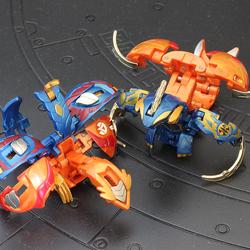 正版爆丸玩具小子初代一代日版轰海卧龙 瞬燃鸟神 套装变形恐龙蛋