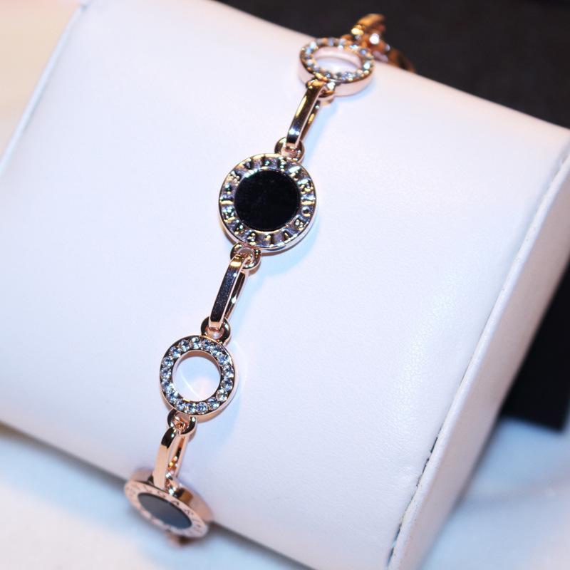 韩国简约欧美潮流时尚精致满钻圆球气质金色手链手镯女包邮