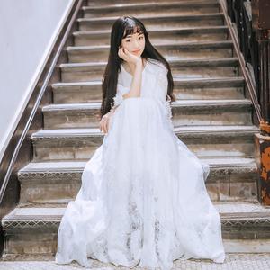 领5元券购买仙女裙学生甜美长裙女2019新款女装春装复古少女温柔很仙的连衣裙