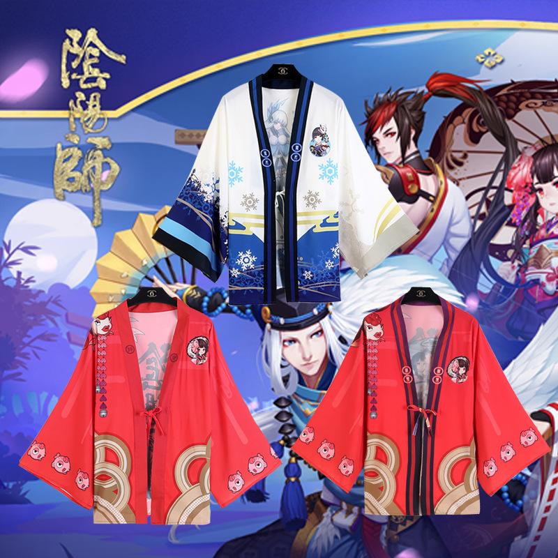 Hand tour Yin Yang master 800 biqiuni Damo Shenle snow girl butterfly Jingqing Xingdeng coat kimono Chiffon Cape