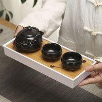 茶具小套装一壶二杯单人家用酒店客房泡茶壶茶杯简约蓄水茶盘茶台