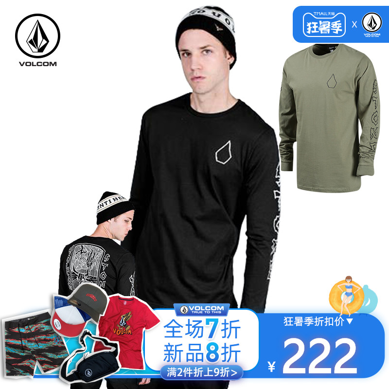 VOLCOM秋季新款长袖T恤亚洲版T恤