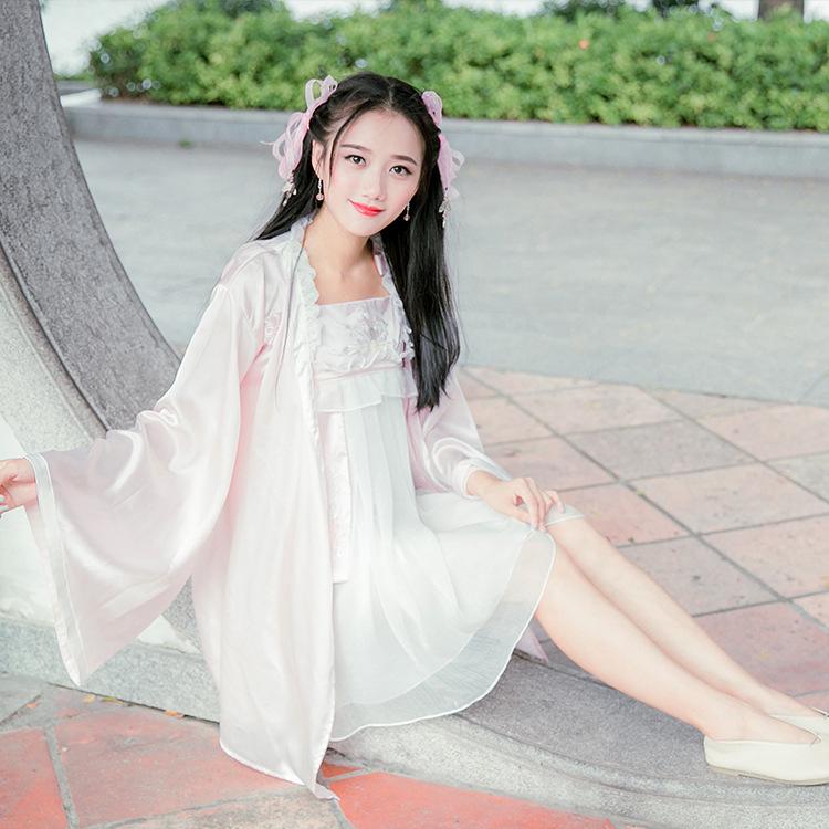 包邮牡丹夜游太平公主寝衣刺绣木耳边系带睡裙套装