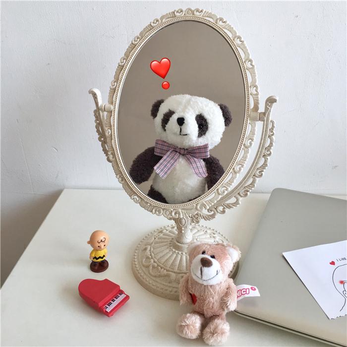 韩风chic简约复古雕刻感边框化妆镜买三送一