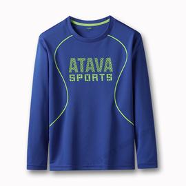 2020春秋新款男童速干长袖T恤中大童儿童户外运动薄款卫衣打底衫图片