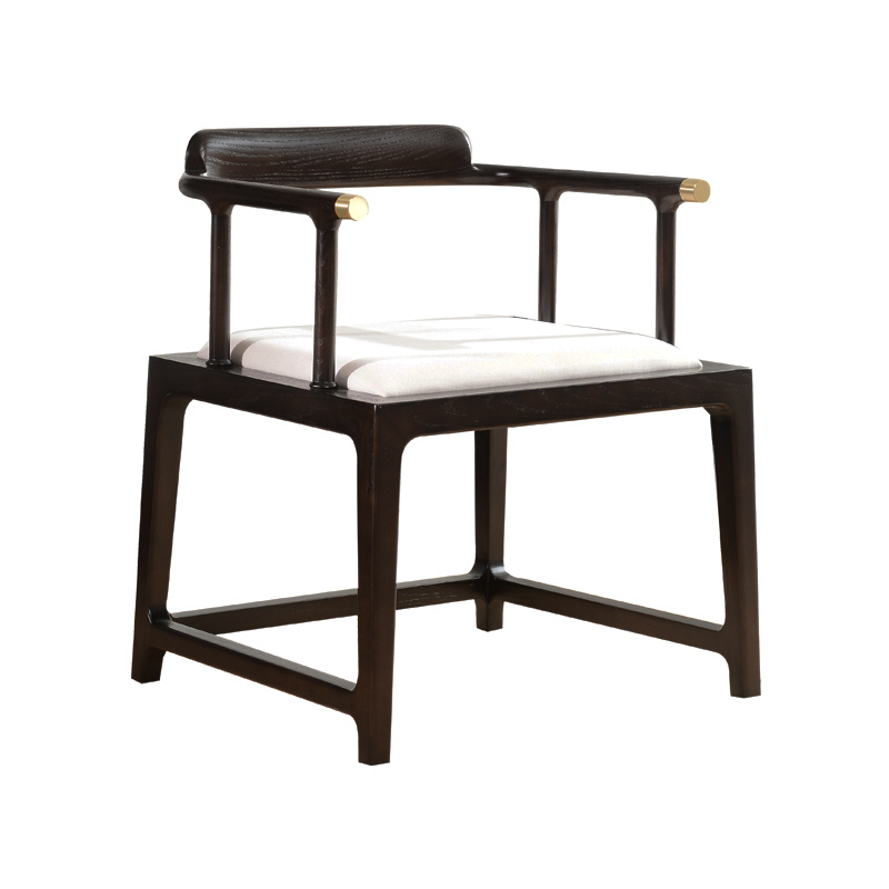 Hongmai new Chinese style solid wood circle chair, Zen chair, tea chair, light luxury circle chair, simple desk and vice chair, customized furniture