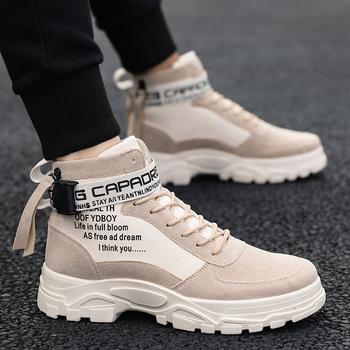 马丁靴男鞋子保暖英伦风加绒棉鞋