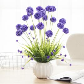 花艺插花 客厅装饰 带花瓶套装桌摆花床头柜仿真布花盆栽卧室假花图片