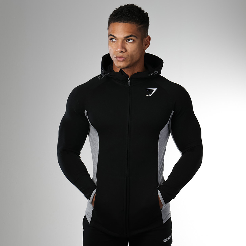 Gymshark autumn and winter new muscle brothers fitness sports sweater long sleeve mens Pullover Hoodie casual coat