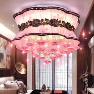 卧室灯简约现代温馨浪漫花形婚房灯公主儿童房网红LED吸顶灯具