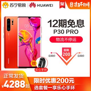 【享12期免息+限时优惠200元+乐心手环】Huawei/华为P30 Pro曲面屏超感光徕卡四摄变焦980芯片智能手机p30pro