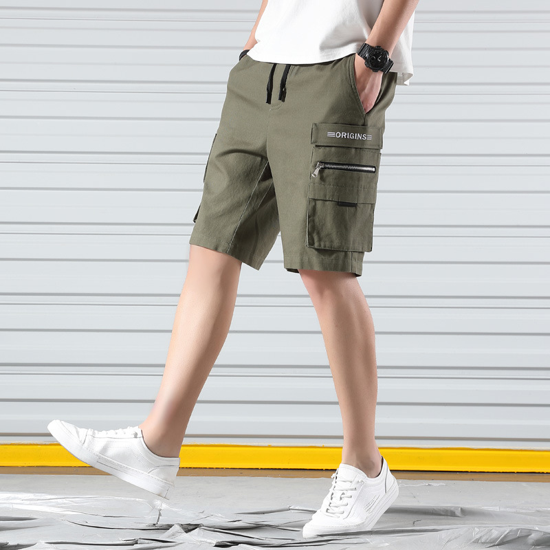Shorts mens casual pants fashion brand ins 5-point underpants beach summer tooling pants loose large Sweatpants