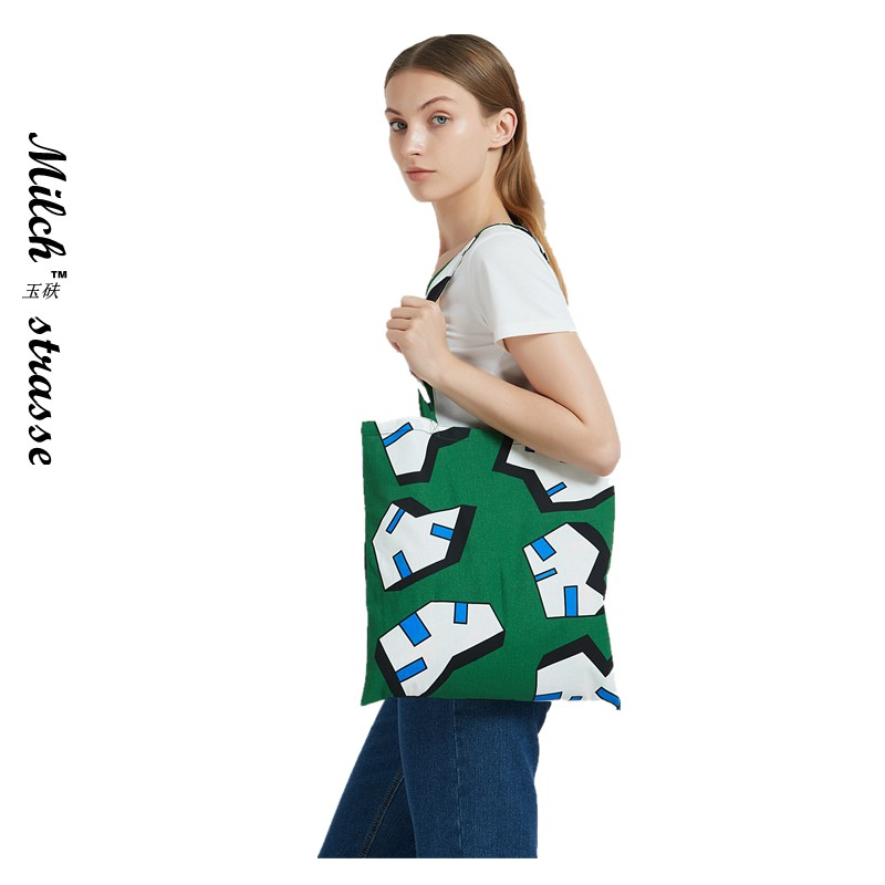 Hay summer light and light, sweat absorbing and ventilating students literature and art one shoulder shoulder messenger bag shopping shopping environment friendly canvas bag