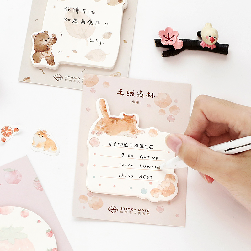 Letter lovers post it notes Plush forest series salt cute animal hand account material message n times post