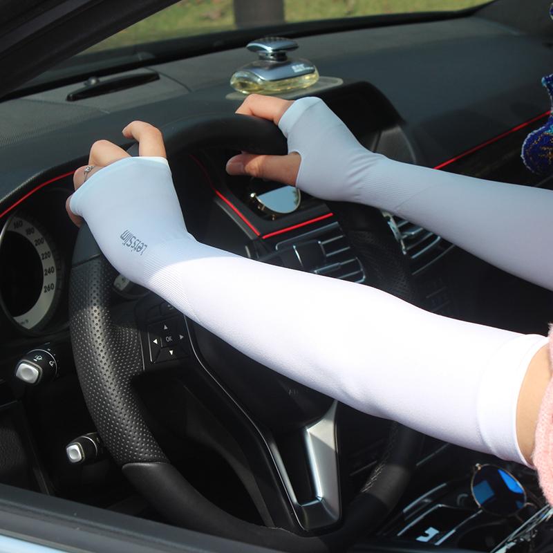 夏季防晒手套开车户外防紫外线冰凉袖套长款降温冰丝臂套袖套