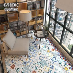 墙贴自粘墙纸卫生间阳台防水地板贴厨房防油瓷砖贴纸花砖自粘地贴