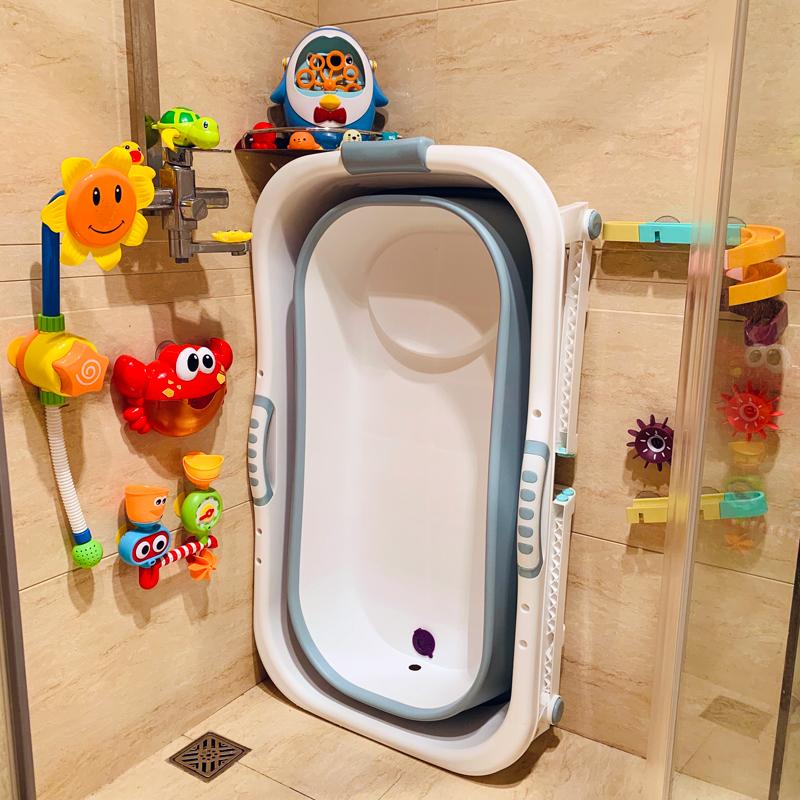 可折叠宝宝新生游泳桶家用洗澡盆