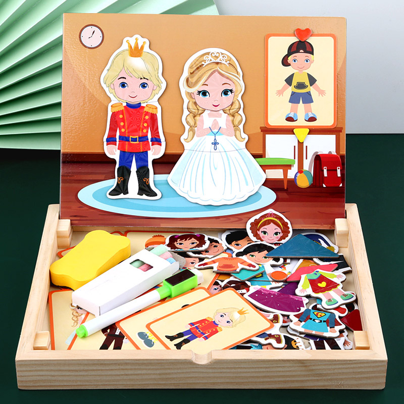 Childrens Puzzle Childrens puzzle multi functional Princess changing 3-6 years old 2 boys and girls Bao kindergarten early education toys
