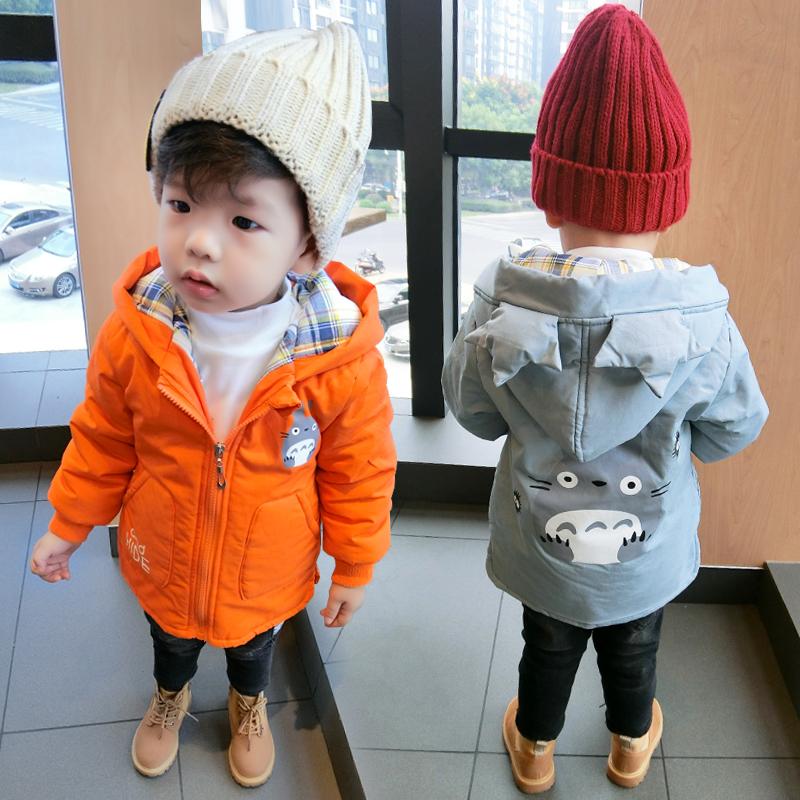 Ребенок зима хлопок пальто мужчина 1-5 лет ребенок 3 хлопок одежда 4 мальчиков теплые хлопок куртка зима 2 полный год